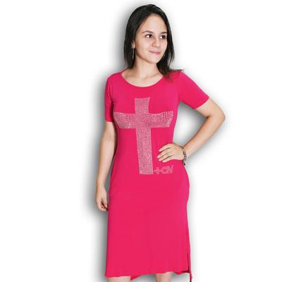 Vestido Rosa MQV tachas