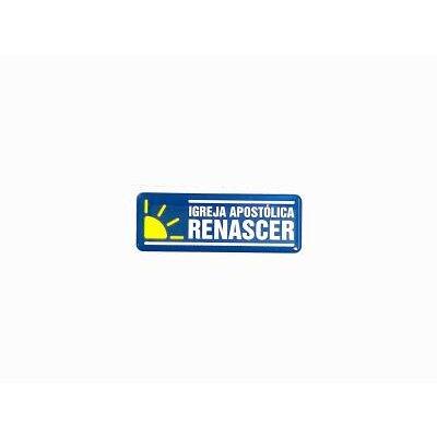 Adesivo logo Renascer- Horizontal Azul