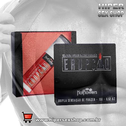 Gel Unissex: Provoca intenso calor e vibração, efeito deslizante e pode ser utilizado para sexo conv