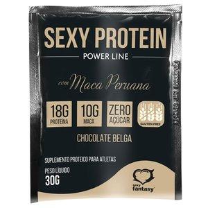 Estimulante Sexy Protein Power Line com Maca Peruana Sabor Chocolate Belga 30g