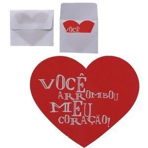 Cartão Presenteável - Você Arrombou meu Coração