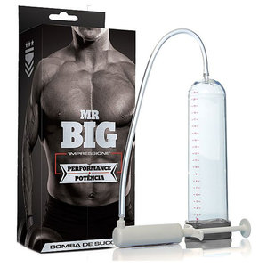 Bomba Peniana Transparente Manual Mr Big com Seringa