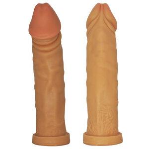 Pênis Curvado Partner Realístico em Silicone 22 cm x 4,5 cm