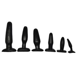 Kit com 6 Plugs Anais Black em Silicone Macio e Flexível