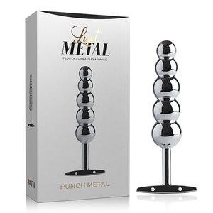 Lust Metal - Plug Anal Punch Prata com Formato Anatômico 15,3 cm x 6,5 cm