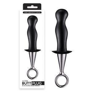 Butt Plug de Próstata com Alça de Metal