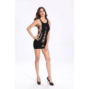 Vestido Curto Vaqua Detalhado - BodyStocking
