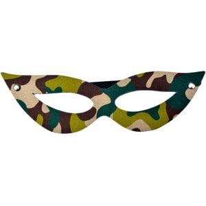 Máscara Sado Camuflada em Couro