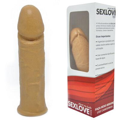 Pênis Face em Jelly com Vértebras 15,5 cm x 3,5 cm