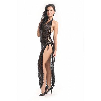Vestido Rendado Preto - Bodystocking