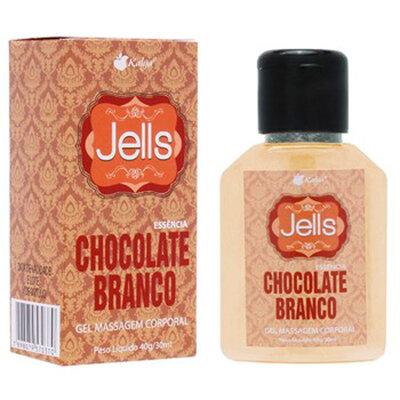 Gel Para Massagem Corporal Jells Chocolate Branco 30ml