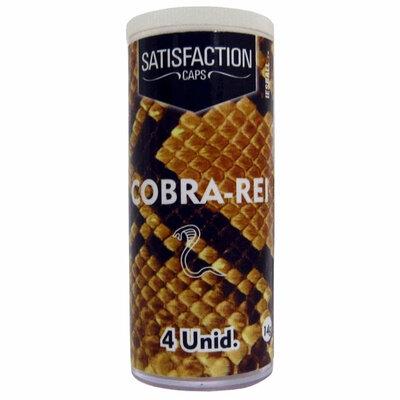 Bolinha Funcional Satisfaction Caps Cobra Rei 4 Unidades