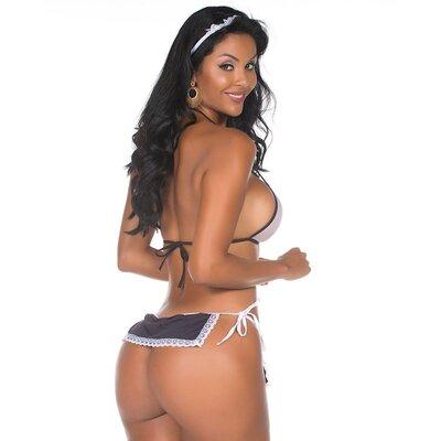 Mini Fantasia Empregada Sexy