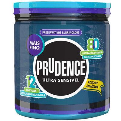 Preservativo Prudence Ultra Sensível Embalagem com 12 Unidades Edição Limitada