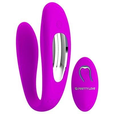 Vibrador Para Casais com 12 Modos de Vibração e Controle Wireless Pretty Love Letitia