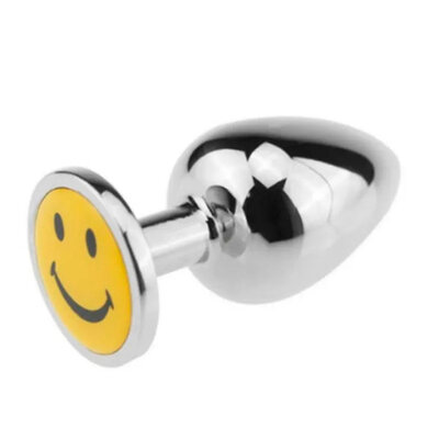 Plug Anal de Aço Happy Smile 7,1 cm x 3,1 cm