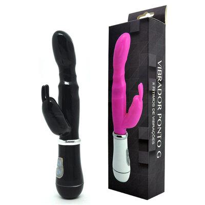 Vibrador Ponto G You Vibe Black com 8 Vibrações e Estimulador 20 cm x 2,5 cm