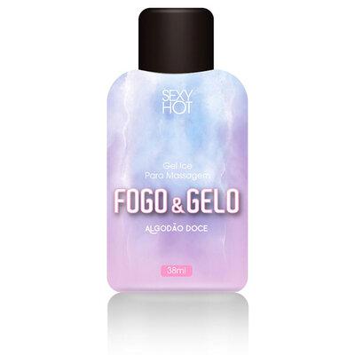 Óleo para Massagem Beijável Fogo & Gelo Algodão Doce 38 ml