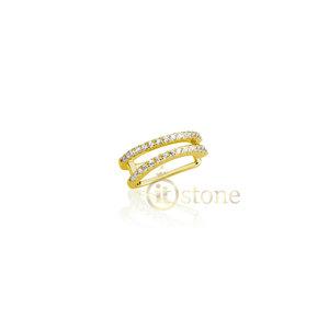 Piercing Falso Lines Cravejado Gold (unidade)