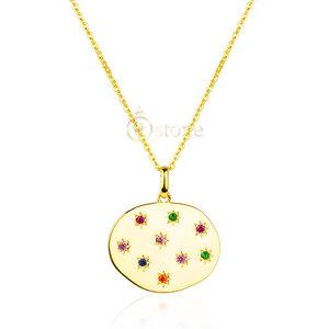 Colar Medalha Constelação Gold