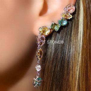 Ear Cuff Multi Lapidação Dangle Colors