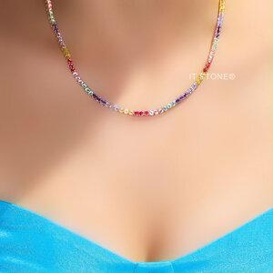 Colar Riviera Rainbow Felicity Luxo Gold