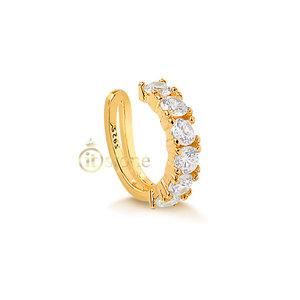 Piercing Falso Quadradinhos Gold (unidade)