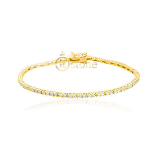 Pulseira Riviera Little Square Gold