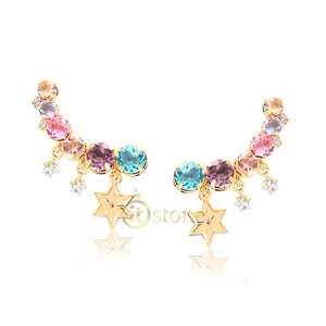 Ear Cuff Stars and Colors Gold