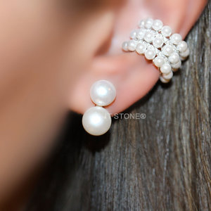 Brinco Double Pearls