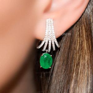 Ear Hook Fascinate Oval Esmeralda Fusion