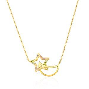 Colar Moon Star Gold