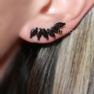 Ear Cuff Navetes Negro