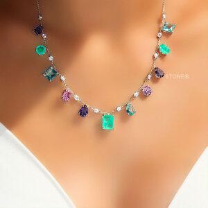 Colar Pedras Colors Luxo