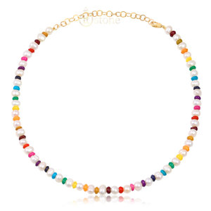 Choker Pedras Colorful Gold