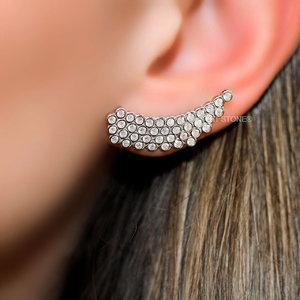 Ear Cuff Bolinhas Micro Cravação Luxo