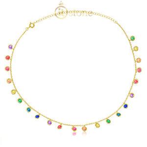 Choker Pontos de Luz Luxo Rainbow Gold