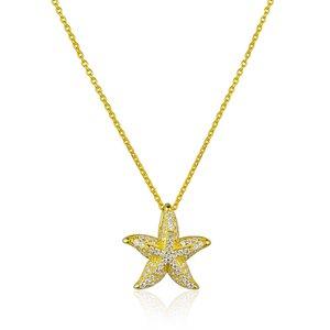 Colar Ocean Star Cravejado Gold