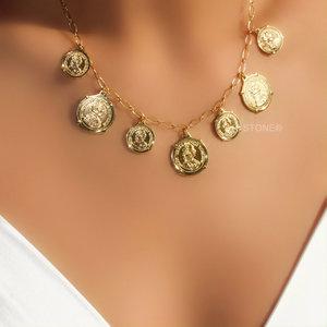 Colar Antique Coins Gold