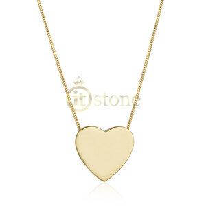 Colar Coração Liso Gold