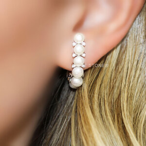 Ear Hook Pérolas Classy
