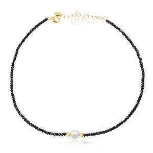 Choker Hematita Pearl Gold