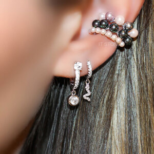 Piercing Falso Little Pearls Rosé (unidade)