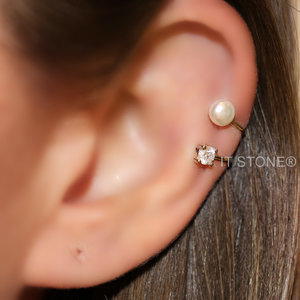 Piercing Falso Pearl Light (unidade)