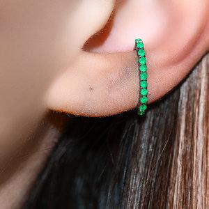 Piercing Falso Hook Esmeralda Negro (unidade)
