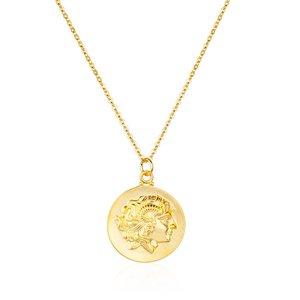 Colar Medalha Godness Gold