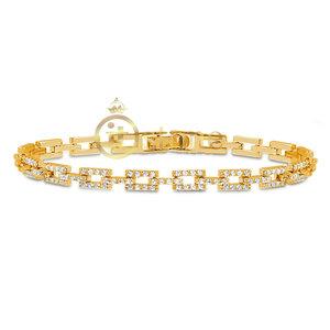 Pulseira Cadeados Cravejados Gold