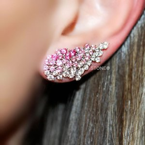 Ear Cuff Sparkle Pink Degradê