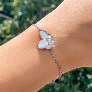 Pulseira Butterfly Madre Pérola