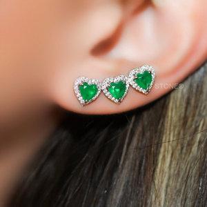 Ear Cuff Three Hearts Esmeralda Fusion